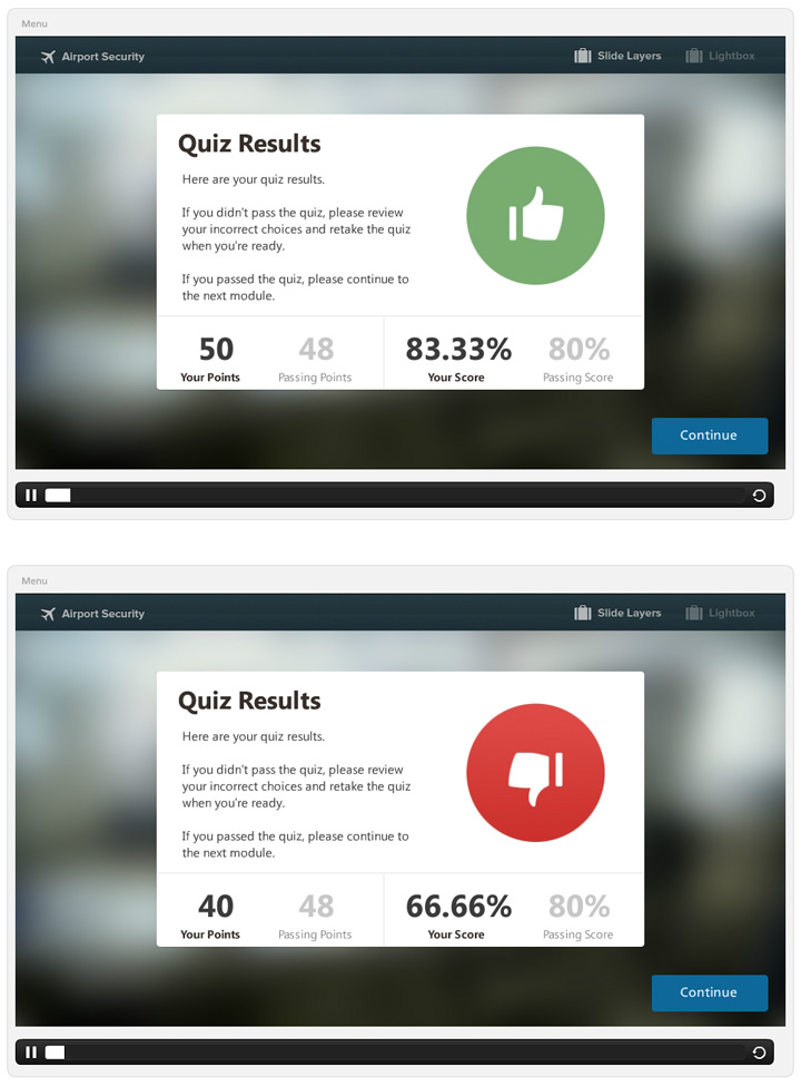 Interactive Video Quiz Example  Elearning Examples